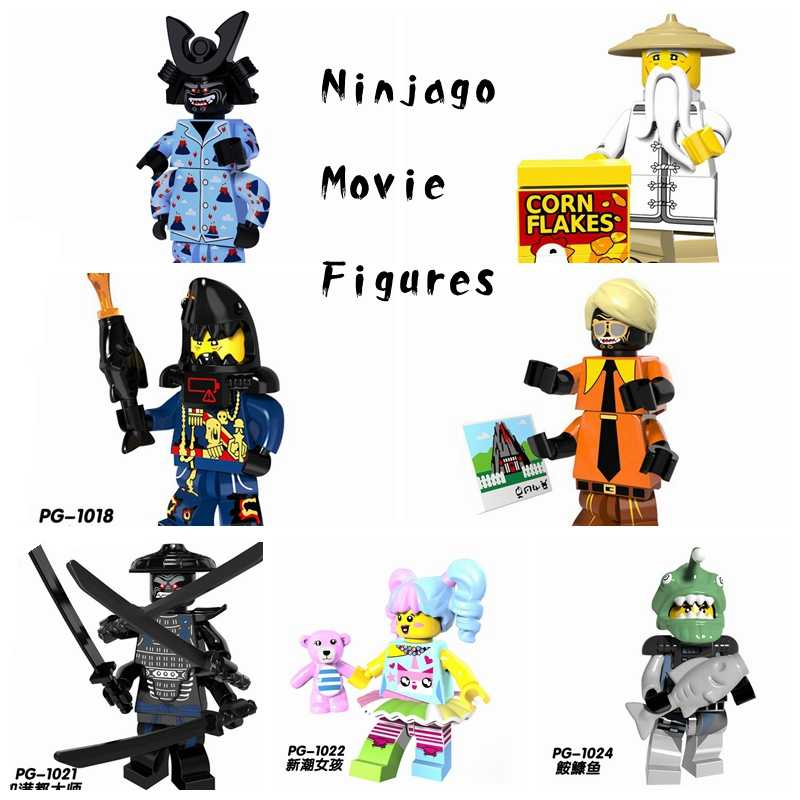 Single Sale Ninja Figuras Garmadon Master Wu Shark Man Trendy Girl Jay Kai Ninja Movie Building Blocks Set Toys for Children