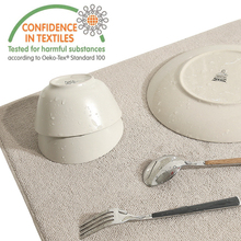 46*40cm Dish Drying Mat Antibacterial Microfiber  Large Table Mat Dish Rack Hrainer Placemat Kitchen Absorbent Pad For Tableware