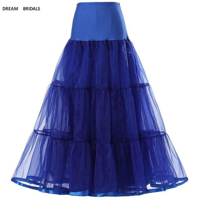 Femmes noir rouge rétro longues jupes pour mariage mode Vintage jupe Crinoline sous-jupe a-ligne Empire Voile Tulle jupon