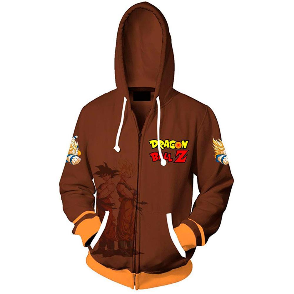 New 3D Printed Anime Dragon Ball Z Men Women Hoodies 2019 Fashion Streetwear Hooded Jacket Sweatshirt Cosplay Zipper Men Hoodie