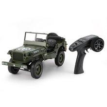 C606 1:10 RC Car 2.4G 4WD Convertible Remote Control Light Jeep Four-Wheel Drive Off-Road Military Climbing Car Toy Kid Gift цена в Москве и Питере