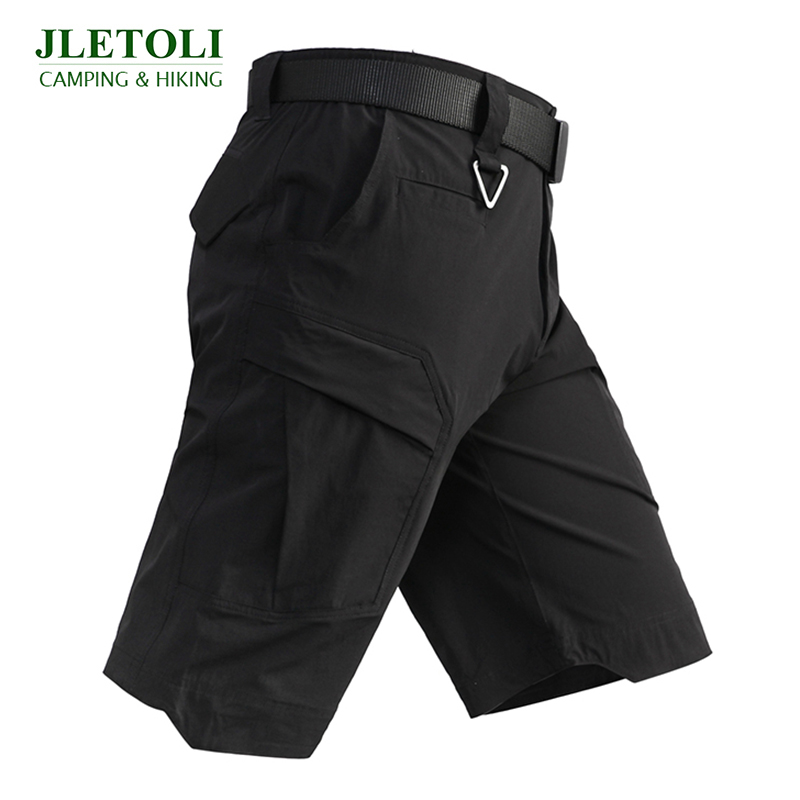 JLETOLI Summer Quick-drying Hiking Shorts Travel Multi-pocket Tooling Shorts Men's Outdoor Sports Tactical Shorts Travel Shorts