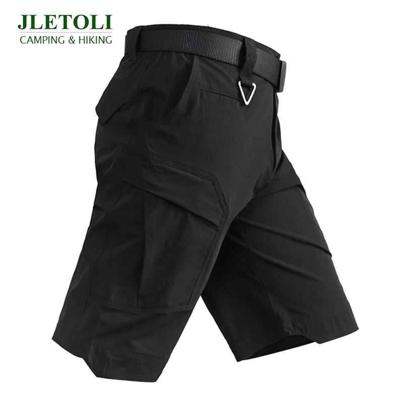 JLETOLI Summer Quick-drying Hiking Shorts Travel Multi-pocket Tooling Shorts Men's Outdoor Sports Tactical Shorts Travel Shorts