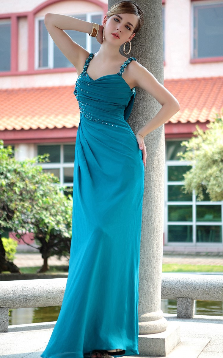sexy backless beading 2018 New Fashion Floor-length Vestido De Festa Longo Chiffon Special Occasion gown bridesmaid dresses