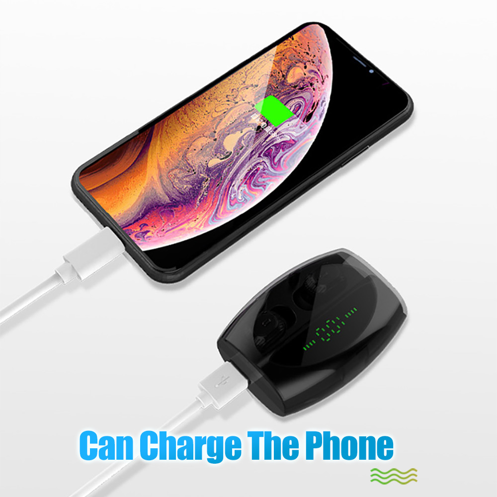Image 4 - In Ear Battery LED Display Wireless Bluetooth 5.0 Earphones Waterproof TWS With 1800mAh Power Bank Can Charge For Phone HeadsetsBluetooth Earphones & Headphones   -