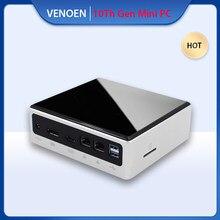 10TH Gen Quad Core Mini escritorio PC Intel i7 10610U 10510U I5 10210U Mini PCIE Wifi BT M.2 SSD Linux Windows 10 Pro Computador
