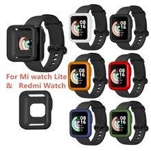 Relógio de silicone caso capa protetora escudo para-xiaomi mi assista lite redmi assista b36d