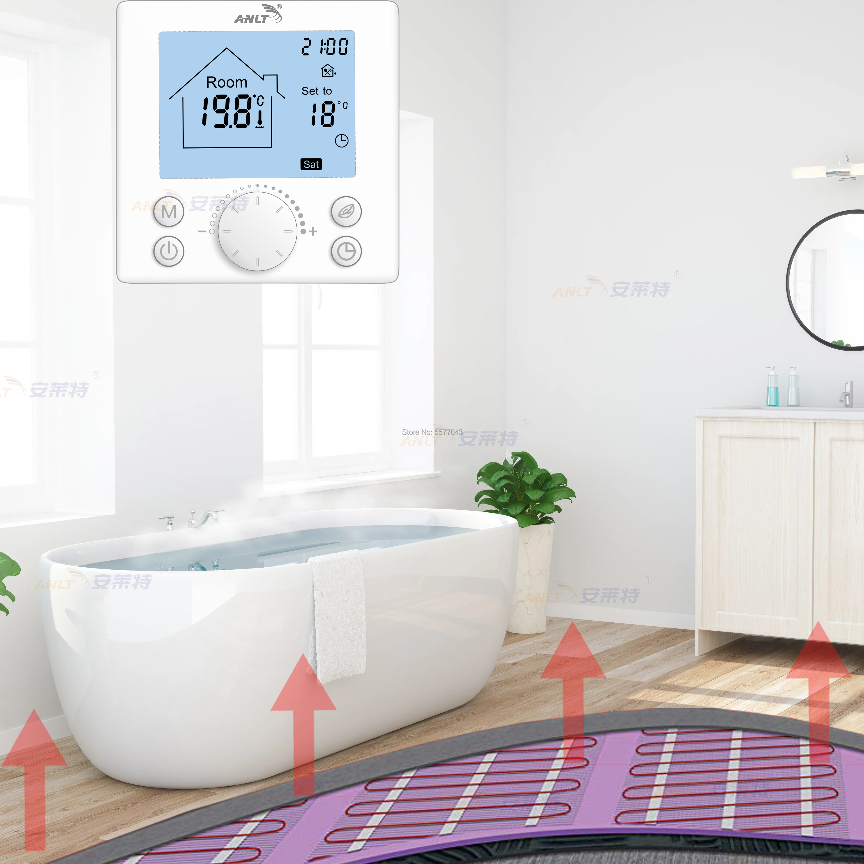 Thermostat for floor heating 16A