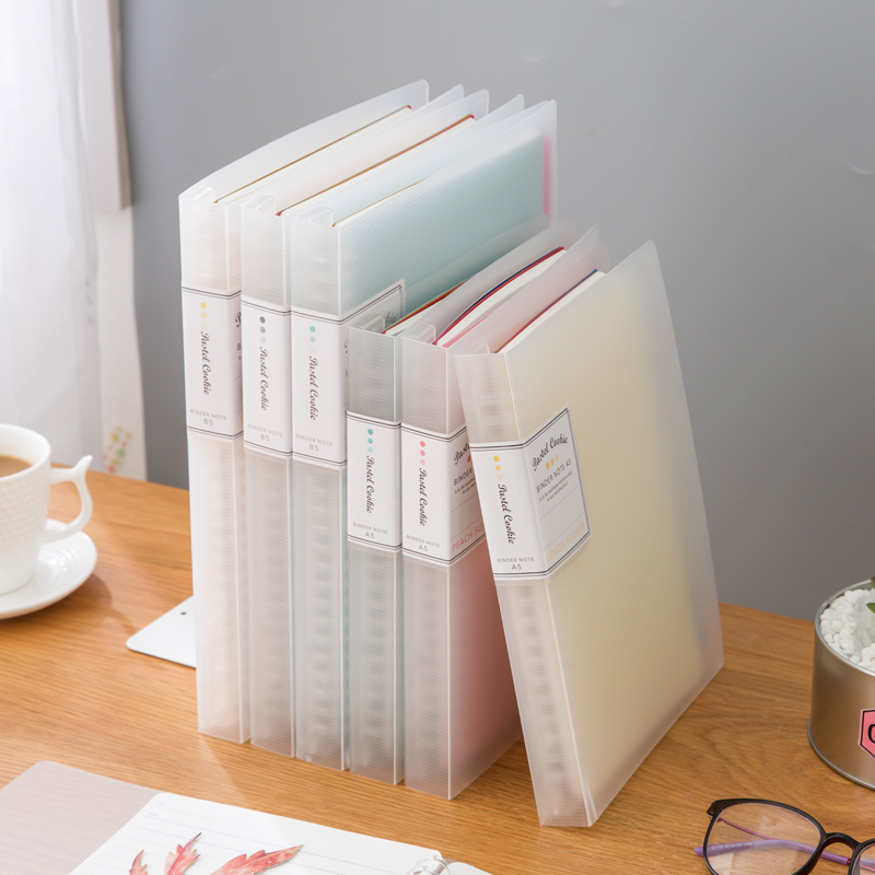 A5 B5 Loose-leaf Detachable Creative Stationery Coil Notebook Shell Removable Core Multiple Colour Choose School Office Supply
