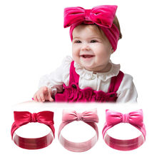 Solid Color Headband Hair Band Cotton Baby Elastic Hairband Children Hair Band Headwear For Party Supplies ​(China)