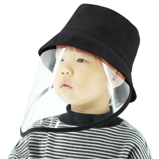 Children's anti-spray fisherman hat Anti-Saliva Goggle Anti-Spitting Anti-Fog Protective Cap Kids Fisherman Hat Face Shield