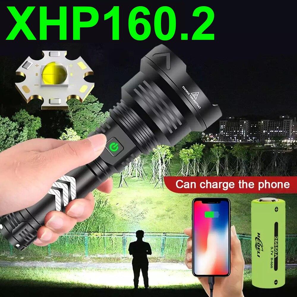 High power XHP160.2 led latarka potężna XHP 160 XHP90 USB latarka taktyczna akumulator 18650 latarka myśliwska latarnia