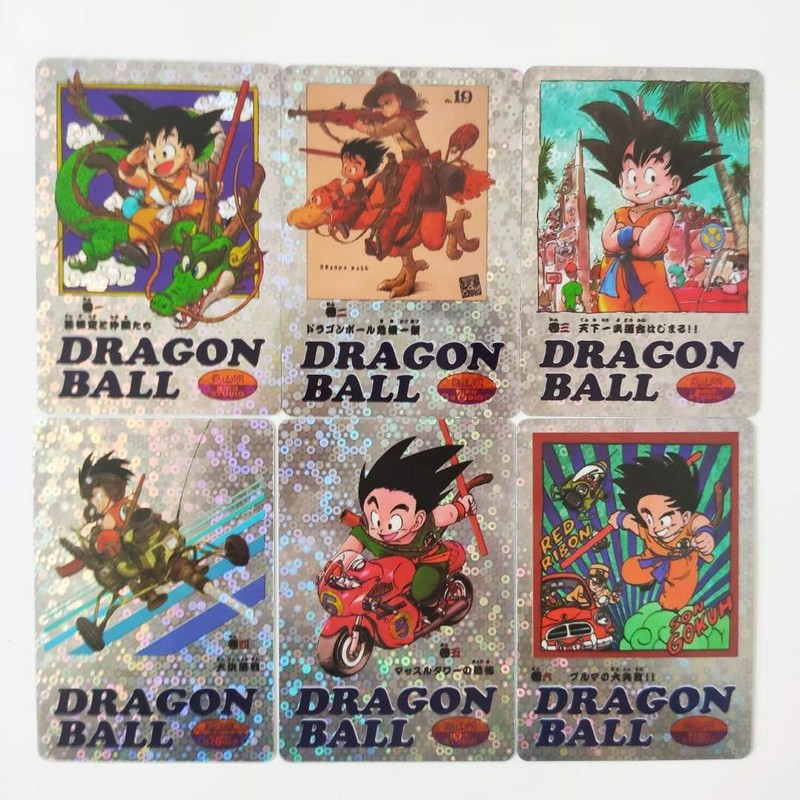 45pcs/set Dragon Ball Z Pasteable Super Saiyan Goku Vegeta Game Action Figures Commemorative Edition Collection Cards Limit