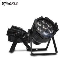 LED Par 7x18W RGBWA фиолетовый DMX512 контроллер сцена эффект освещение DJ дискотека вечеринка праздник цвет музыка алюминий свет