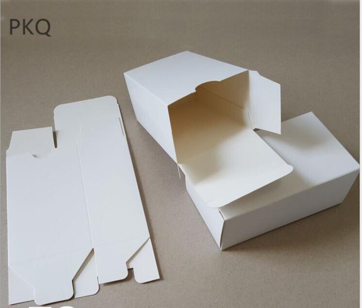 50pcs boîte de papier Kraft blanc boîte à bonbons blanc faveurs de mariage boîte cadeau paquet boîtes de décoration de fête d'anniversaire