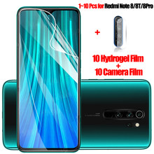 1-10 adet, hidrojel film redmi note 8pro yumuşak kırılmaz cam redmi note 8 pro ekran koruyucu redmi note 8 t soft glass xiomi not 8 screen protector note 8t xaomi redmi note8 kamera koruyucu redmi 8 t xiaomi note 8 pro(China)