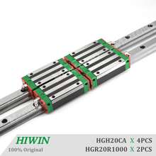 HIWIN HG20 Linear Guide Rail Narrow Type HGR20CA Blocks Carriage router parts HGH20 1000mm Linear Guideways for High Precision