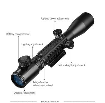 Three-sided rail 3-9x40EG Hunting Optic Riflescope Red Green Illuminated Tactical Air Rifle Optics Hunting Sniper Scopes Sight 2