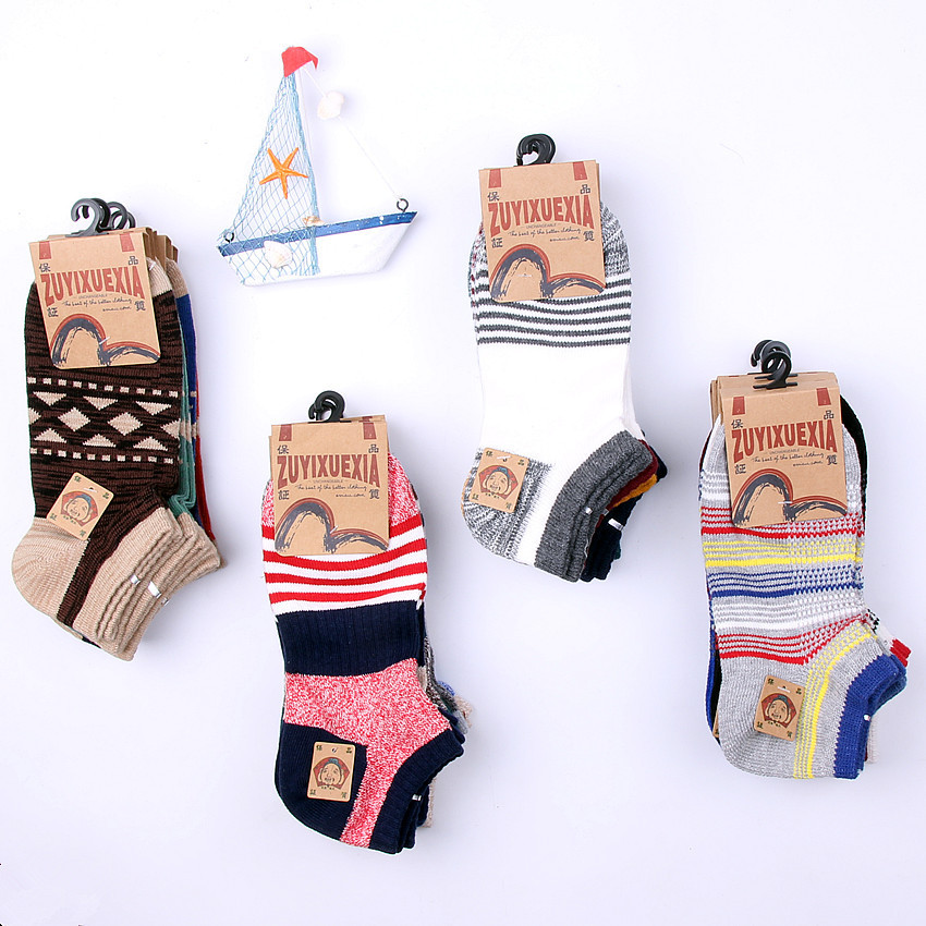 Socks MEN'S Socks Cotton Socks No-show Socks Summer Low Top Short Low-Cut 1 Sweat Absorbing Sports Hidden Thin Men's Socks