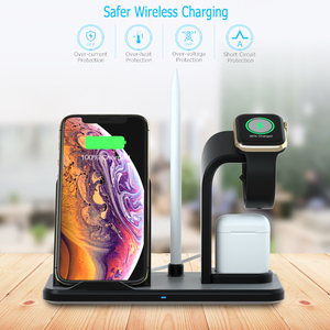 Image 5 - Wireless Charger Stand 3 in 1 Wireless QI Charging Station Dock for Apple Watch iPhone Xs X Max XR 8 Plus iWatch 1 2 3 4 AirPods