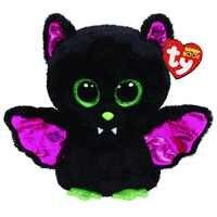 Peluche de murciélago negro de 15cm, Ty Beanie, ojos grandes, suave, juguete muñeco de Animal, regalo de cumpleaños y Navidad para niños