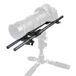 Image 5 - BGNing Aluminium SLR Kamera Käfig für GH4 /GH5 Unterstützung Objektiv Stand Bracket w/ 25cm 40cm Carbon fiber Rod Clamp Railblock Mount Kit