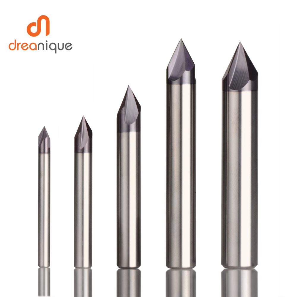 Clearance SaleChamfering Milling Cutter Router-Bit Engraving Cnc Carbide 60-90-120-Degree-Coated 3 Flutes