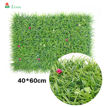 DIY Background Wall Artificial Plant Lawn Simulation Grass Leaf Wedding Home Decoration Green Wholesale Carpet Turf Office Decor
