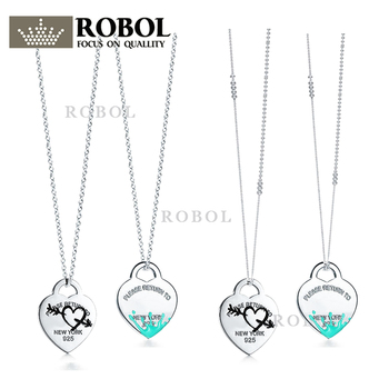 High Quality 1:1 TTFF 925 Sterling Silver Arrow Pierced Heart Necklace Jewerly Original Design Model Exquisite Craftsmanship.