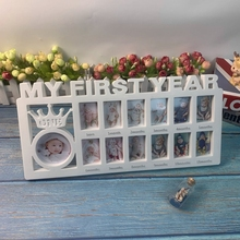 My First Year Baby Keepsake Frame 0-12 Months Pictures Photo Frame Souvenirs Kids Growing Memory Gifts
