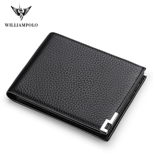 Image 1 - Williampolo geunine 革財布メンズ男性小さな財布スリムミニ perse マネーバッグ PL175115