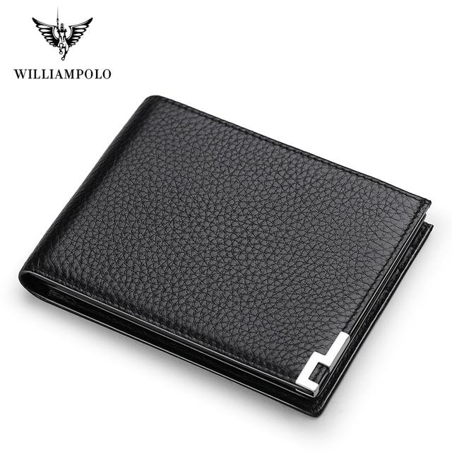 Williampolo geunine 革財布メンズ男性小さな財布スリムミニ perse マネーバッグ PL175115