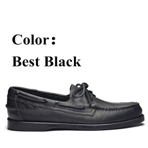 Image 2 - Men Genuine Leather Driving Shoes,New Fashion Docksides Classic Boat Shoe,Brand Design Flats Loafers For Men Women 2019A006