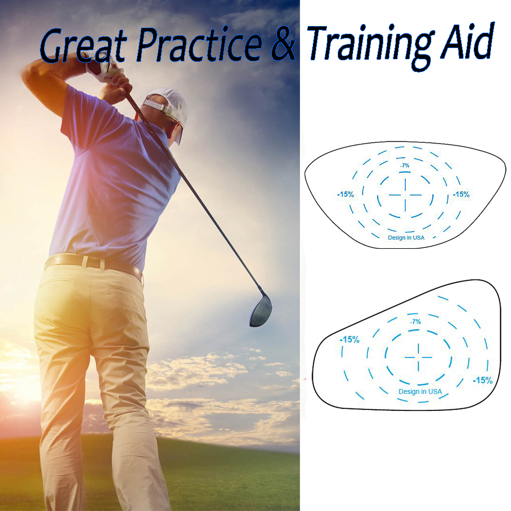 Golf Club Tape Sticker For Iron Club Left-Handed Golfer Right Hand Lable Impact Target Hitting Recorder Practice Training Set