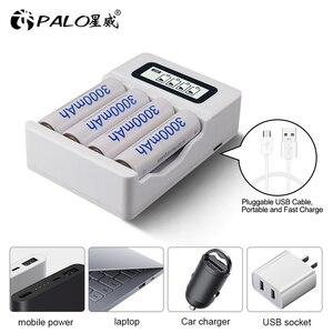 Image 4 - PALO LCD ekran akıllı USB şarj aleti AA şarj edilebilir pil şarj için 1.2V AA / AAA ni cd Ni MH şarj edilebilir piller