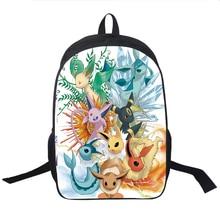 Pokemon Eevee Gengar Pikachu Backpack High Quality Children Boys Girls School Backpacks Back to Scho