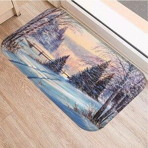 Image 5 - Petit tapis antidérapant motif darbre, souple, 40x60cm, décoration de chambre à coucher, cuisine, salon, salle de bains, tapis de sol