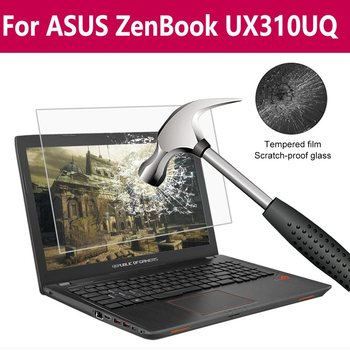 For Asus Zenbook Ux310uq Laptop Tempered Glass Hardness 9H Hardness Nano Coating Anti Shatter Film image