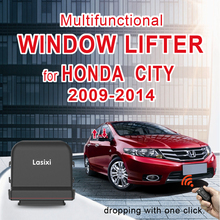 Car auto Window Lifting Closer for HONDA CITY 2009-2014 remote to lift drop window with 1 click roll up 4 doors control device
