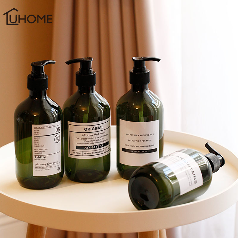 500ml Outdoor Travel Pump Soap Dispenser Bathroom Sink Shower Gel Shampoo Lotion Liquid Hand Soap Pump Bottle Container