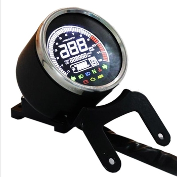 12V Moto Speedometer Replacement LCD Digital Speedometer Tachometer Odometer Water Temp Fuel Gauge Motorcycle Fuel Meter