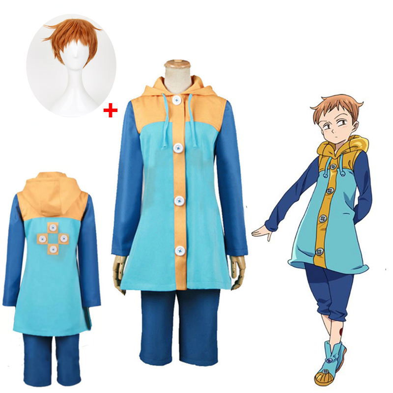Grizzly Is A Sin Of Laziness Harlequin King The Seven Deadly Sins Nanatsu No Taizai Cosplay Costume Full Set And Wig