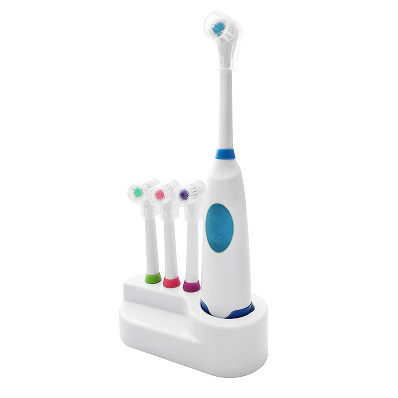 AD-Adults Electric Toothbrush Replacement Teeth Whitening Children Toothbrush Battery Powered Pro Equipment Blue