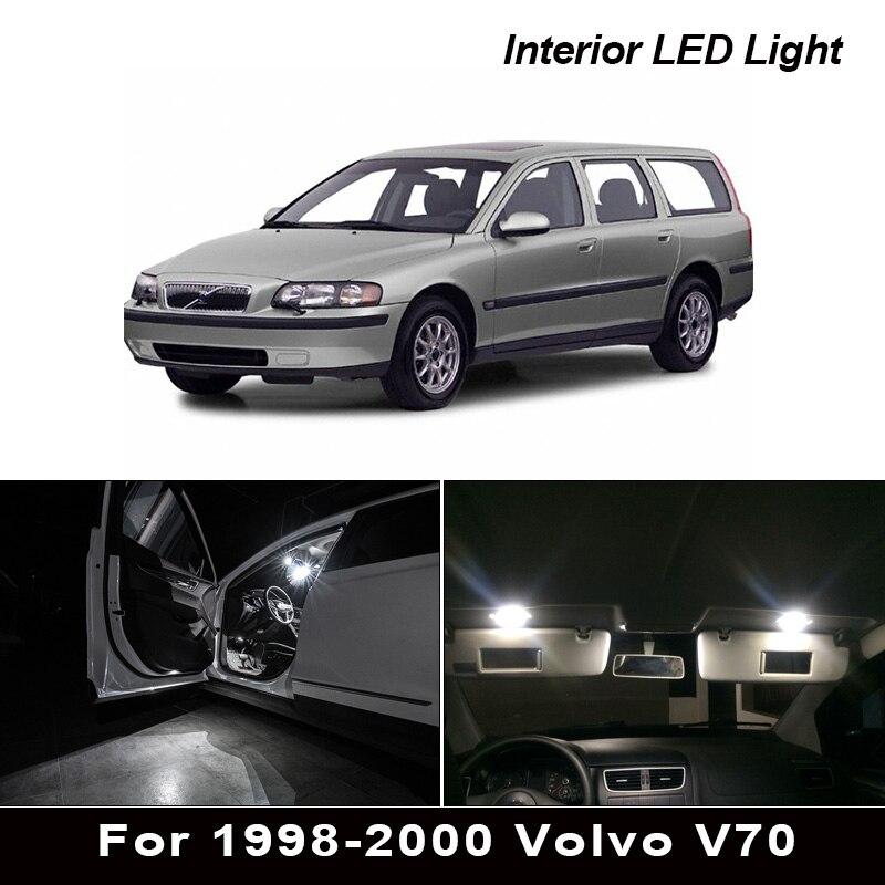 14x белые светодиодные с Canbus лампы автомобильные лампы интерьерная посылка Набор для 1998-2000 Volvo V70 для автомобиля с кузовом универсал Карта Куп...