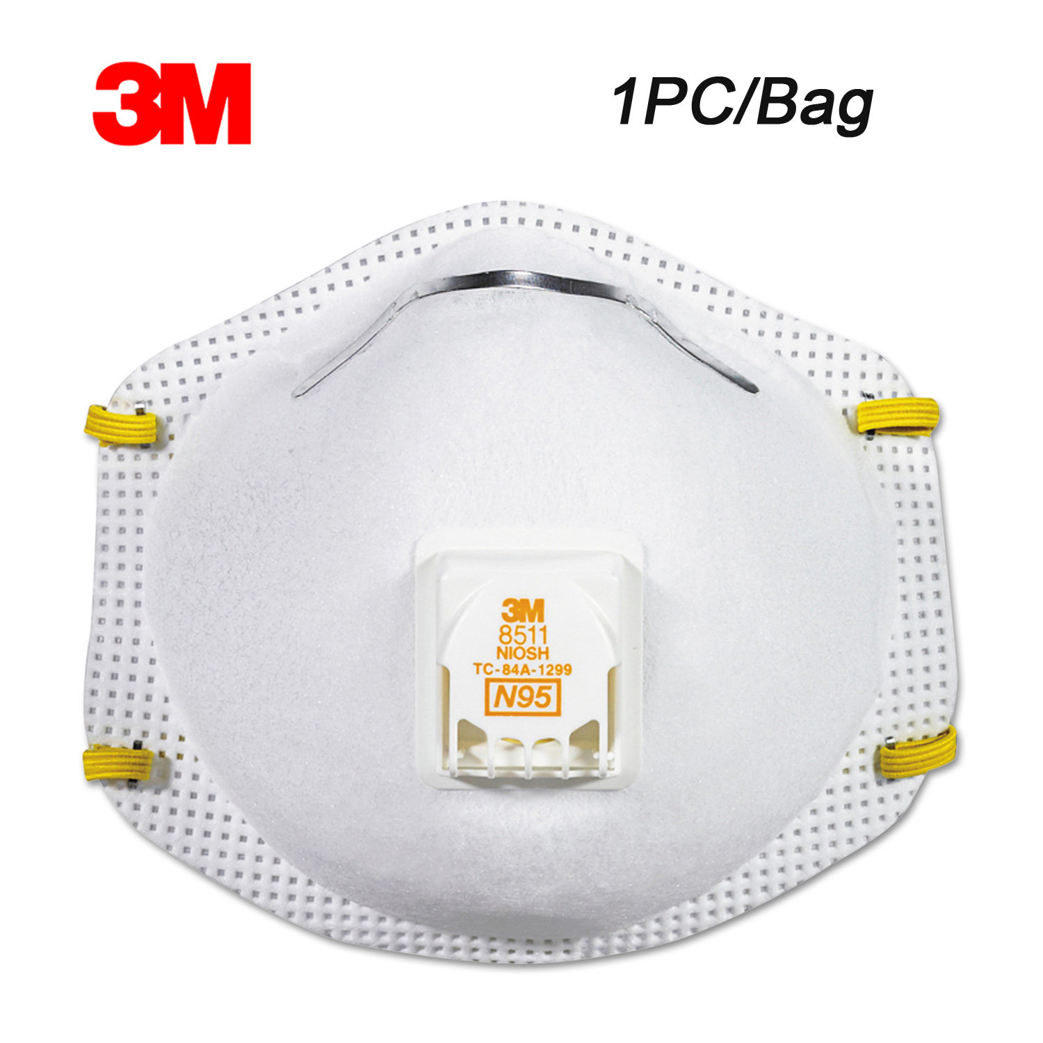 3M 8511 1pc  Particulate Respirator Protective Mask Dust Mask Safety Masks PM2.5 Haze Dustproof With Breathable Valve Outdoor