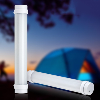 Outdoor LED Portable Emergency Light 20cm USB Rechargeable Flashlight led Tube Adjustable Brightness Camping Tent Lamp Lights фото