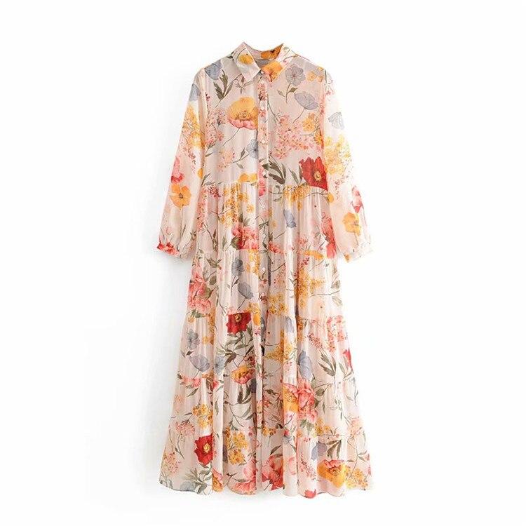 Summer Dress 2019 Long Dress Summer New Flower Printed Dress Sexy Dress  Party Dress Plus Size Dress
