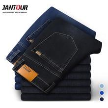 2020 جديد جينز قطني الرجال عالية الجودة العلامة التجارية الشهيرة سراويل جينز رجالي لينة السراويل الشتاء سميكة جان موضة كبيرة size40 42 44 46