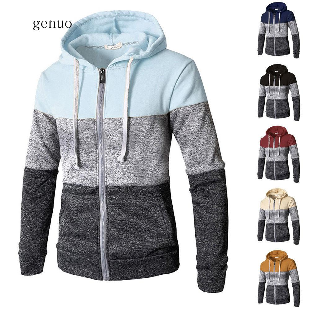2020 Newest Men Zip Up Casual Elastic Sweater Coat Tops Jacket Outwear Sweater Jogger Zipper Men Autumn Winter Hoody Sweatercoat