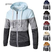 2020 Newest Men Zip Up Casual Elastic Sweater Coat Tops Jacket Outwear Sweater Jogger Zipper Men Autumn Winter Hoody Sweatercoat